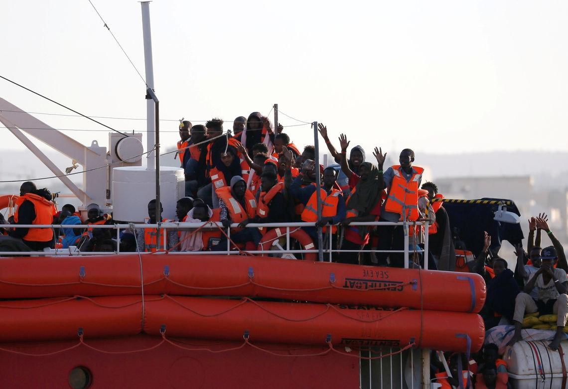 """Vergangenen Mittwoch hat die """"Lifeline"""" nach fast einer Woche auf See in Malta angelegt."""