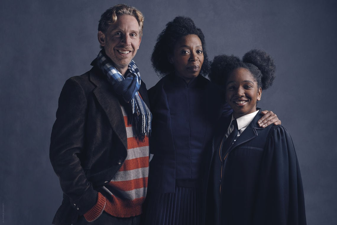 l r ron weasley paul thornley hermione granger noma dumezweni rose granger weasley cherrelle skeete photo credit charlie gray