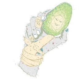 avocado hand neu