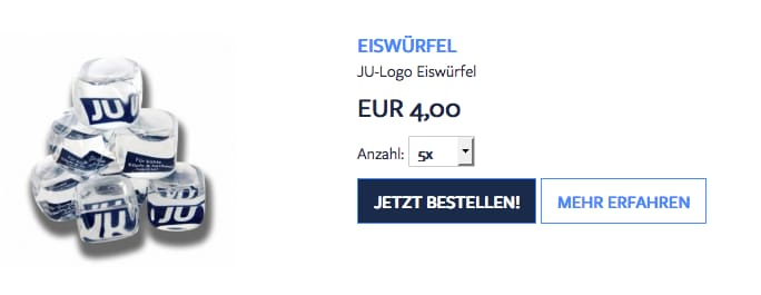 JU-Eiswürfel