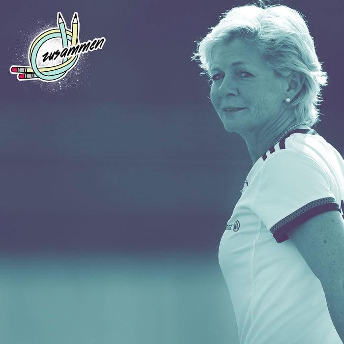 Silvia Neid war von Anfang an dabei: Sie stand 1982 im ersten Länderspiel einer deutschen Frauennationalmannschaft auf dem Platz. 2005 wurde sie Bundestrainerin und holte in elf Jahren in dieser Position zwei EM- und einen WM-Titel.