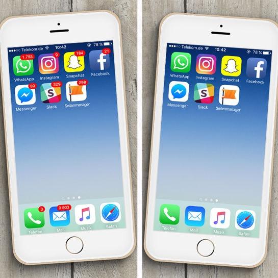 Alle App-Benachrichtigungen löschen oder stehen lassen
