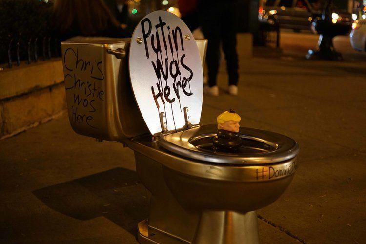 Donald Trump goldene Toilette