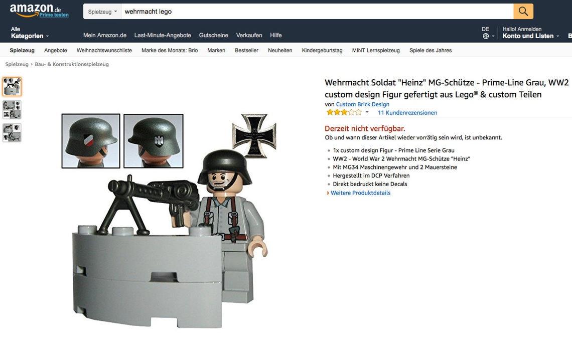 """""""Heinz"""" heißt dieser grinsende MG-Schütze der Wehrmacht. Und er ist so erhältlich auf Amazon."""