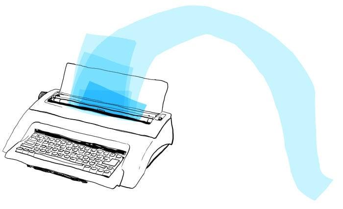 knast schreibmaschine