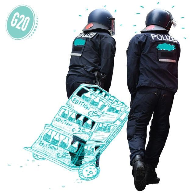 polizisten trinken