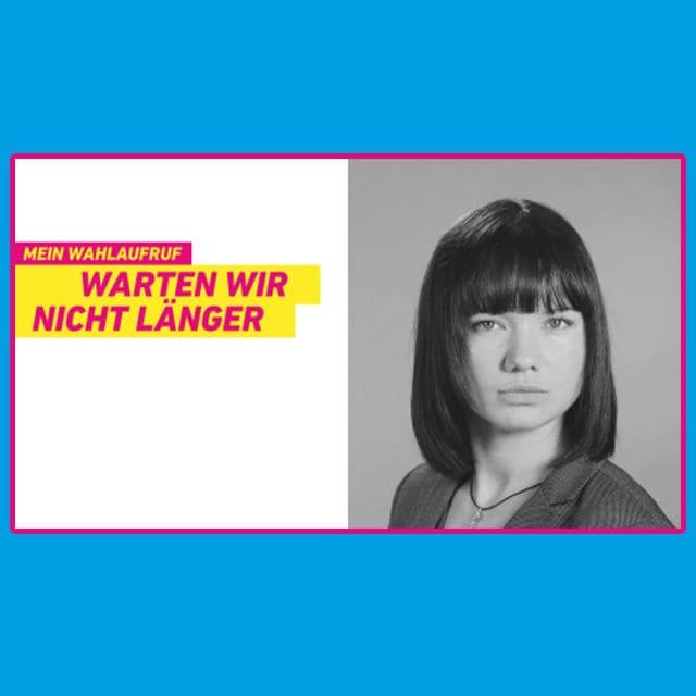 Das ist Franziska Schreiber, die inzwischen für die FDP wirbt.