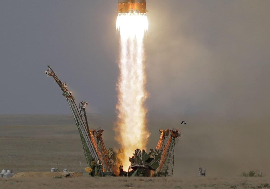 Weltweit beobachteten die Menschen den Raketenstart im kasachischen Baikonur.