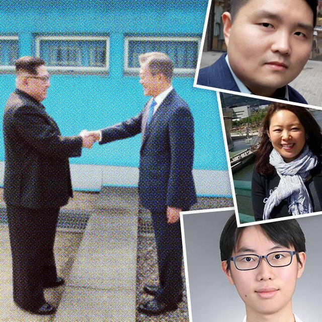This picture taken on April 27, 2018 and released from North Korea's official Korean Central News Agency (KCNA) on April 29, 2018 shows North Korea's leader Kim Jong Un (L) shaking hands with South Korea's President Moon Jae-in (R) at the Military Demarcation Line that divides their countries ahead of their summit at the truce village of Panmunjom. / AFP PHOTO