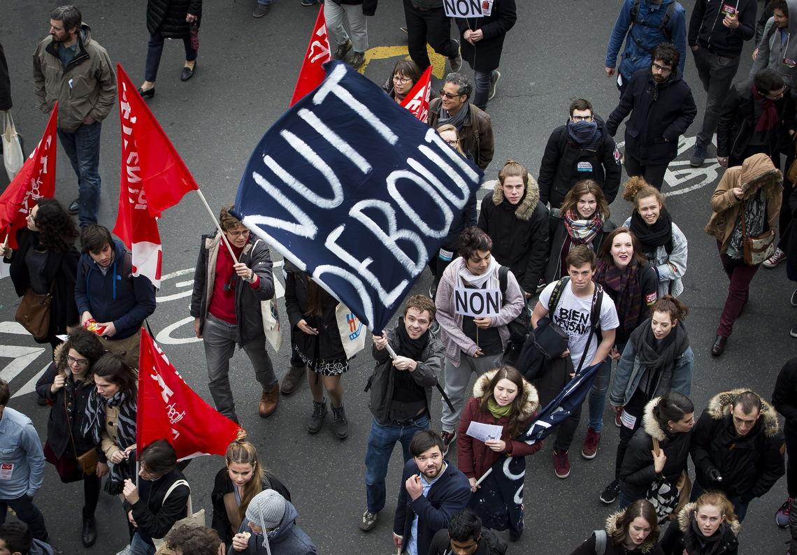Nuit Debout Proteste