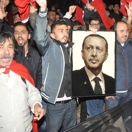Erdogan-Anhänger nach dem Putsch