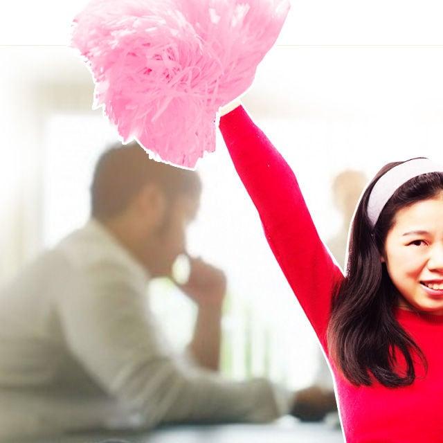 asiatische cheerleaderin