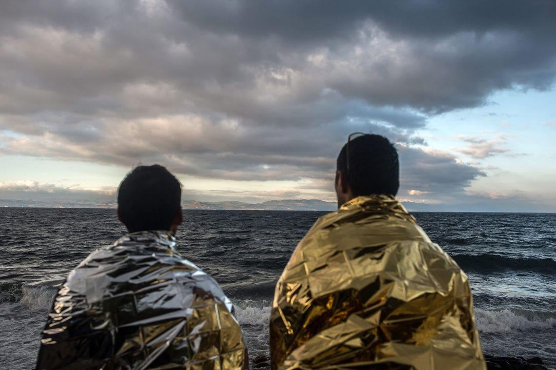 Flüchtlinge auf Lesbos. Auch von der griechischen Insel, eines der Drehkreuze der Migrationskrise, hat Patrick Kingsley berichtet.