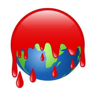 emoji blood earth r