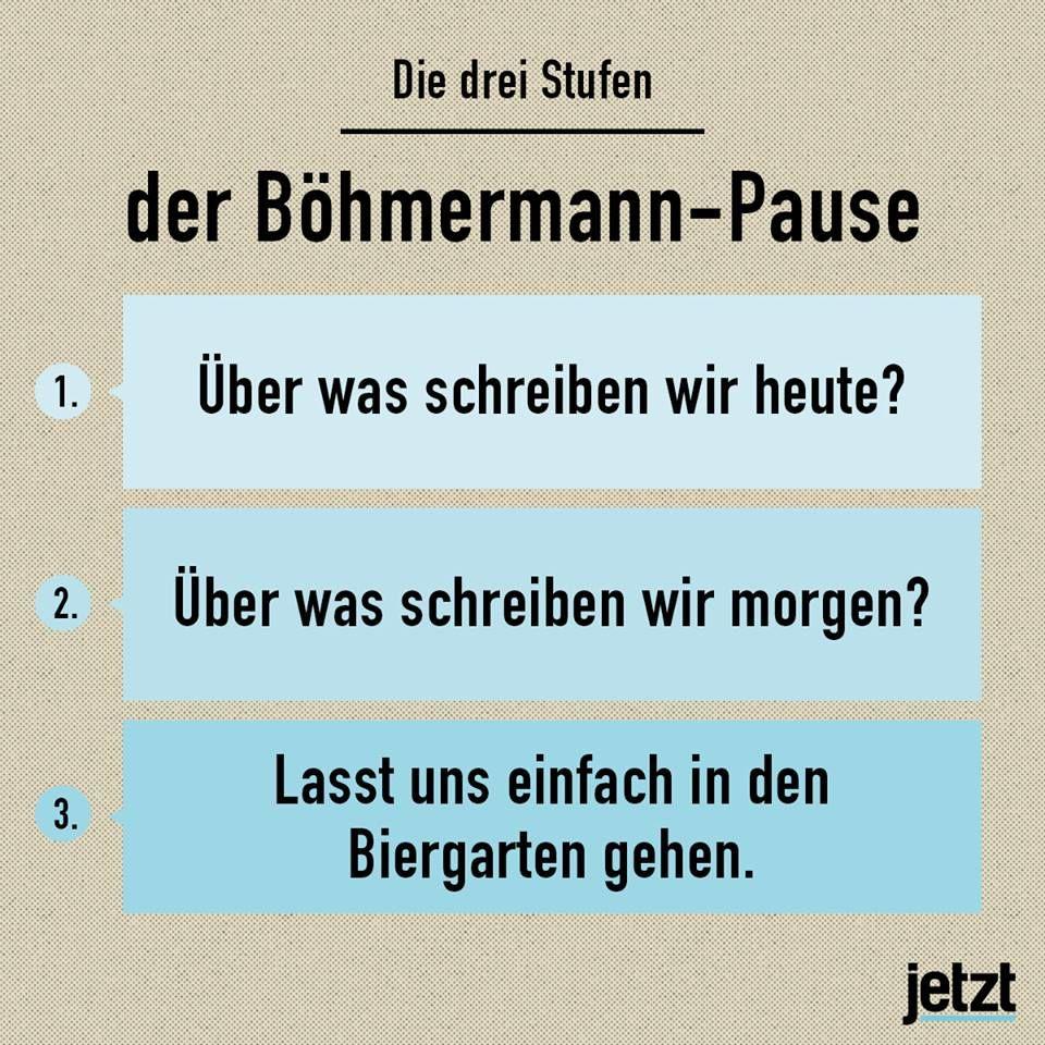 Böhmermann-Pause