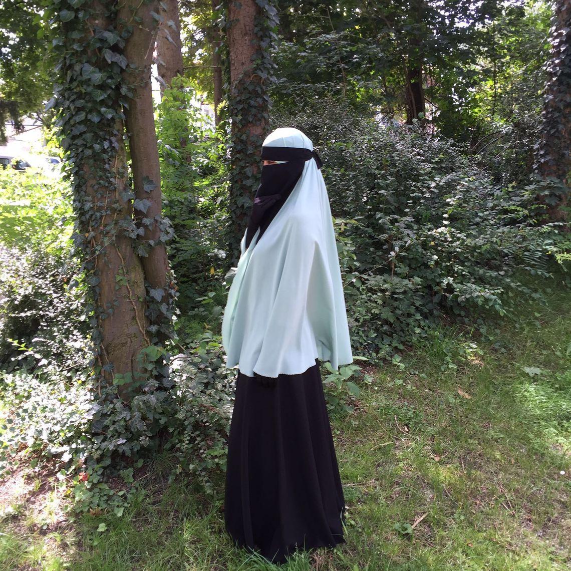 Amina Hassan in ihrem Niqab.