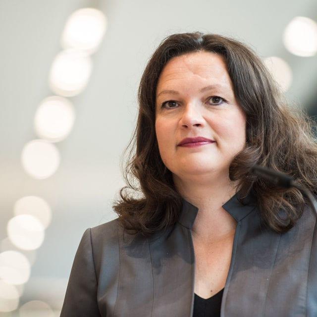 Bundesarbeitsministerin Andrea Nahles (SPD).