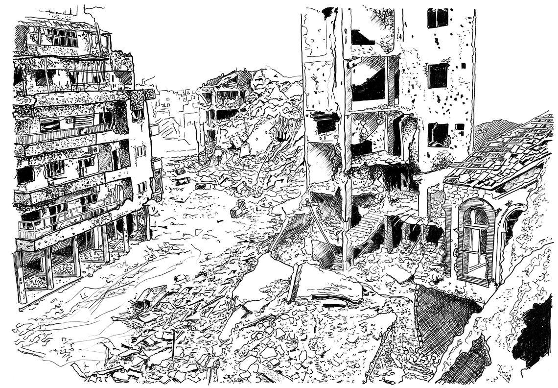 5 zerstörung in homs p52 53 a neighbourhood in homs reduced to rubble