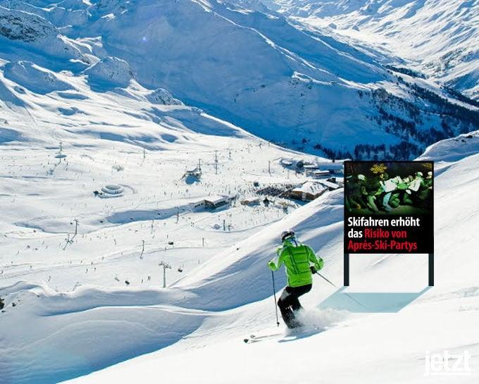schockfotos plain apres ski