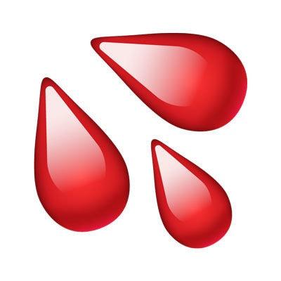 emoji blood droplets r