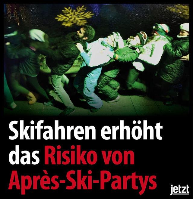 schockfotos plain apres ski lok