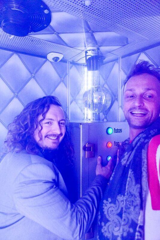 Teledisko-Erfinder Benjamin Uphues (rechts)