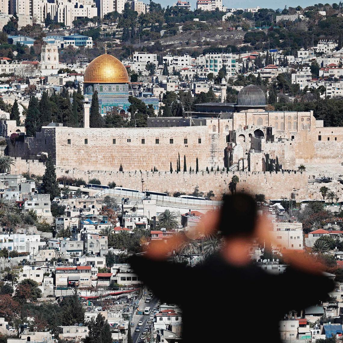 So sieht Jerusalem aus. Eine der begehrtesten und am härtesten umkämpften Städte der Welt.