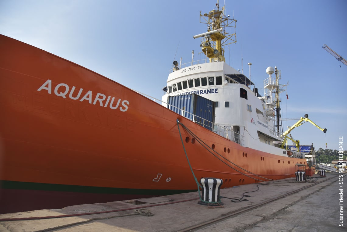 Die MS Aquarius.