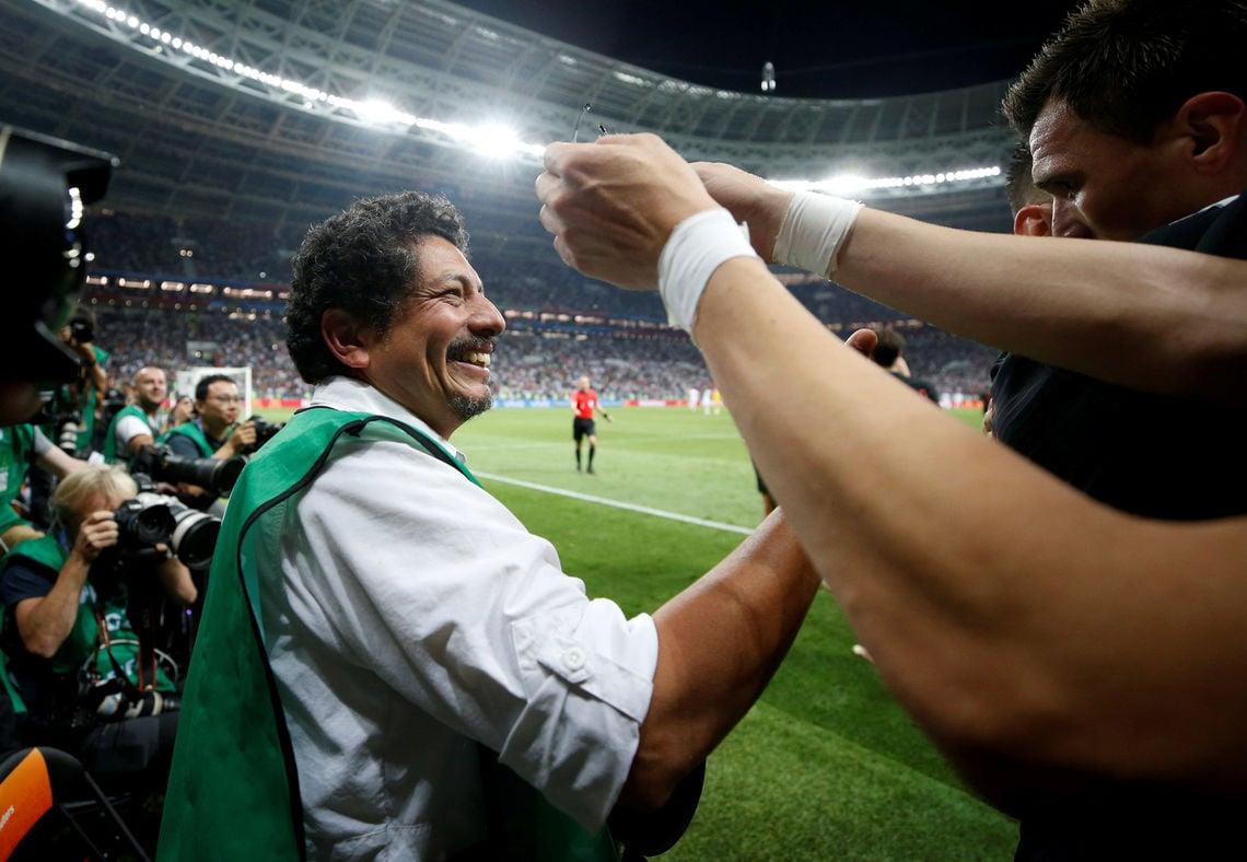 Yuri Cortez überstand alles unbeschadet und freute sich mit den Kroaten.