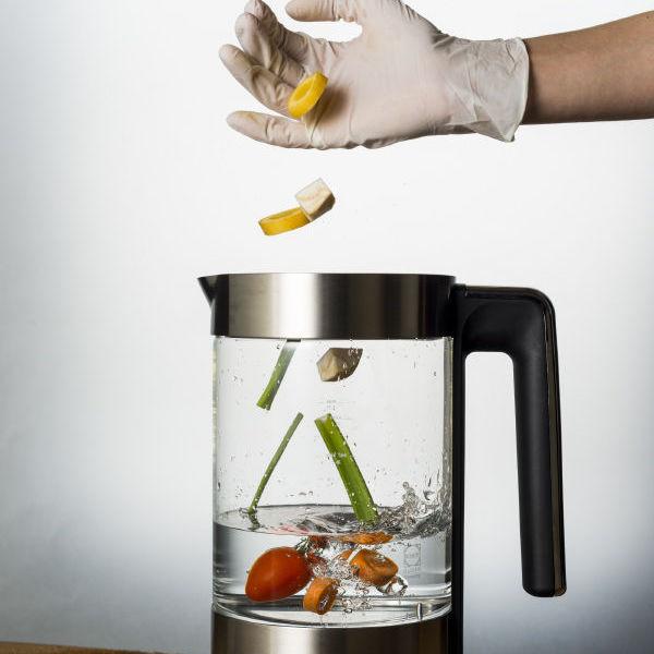Gemüse im Wasserkocher? Mei, warum nicht...