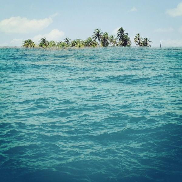 Inselbewohner sind vom Klimawandel und dem ansteigenden Meeresspiegel besonders bedroht.