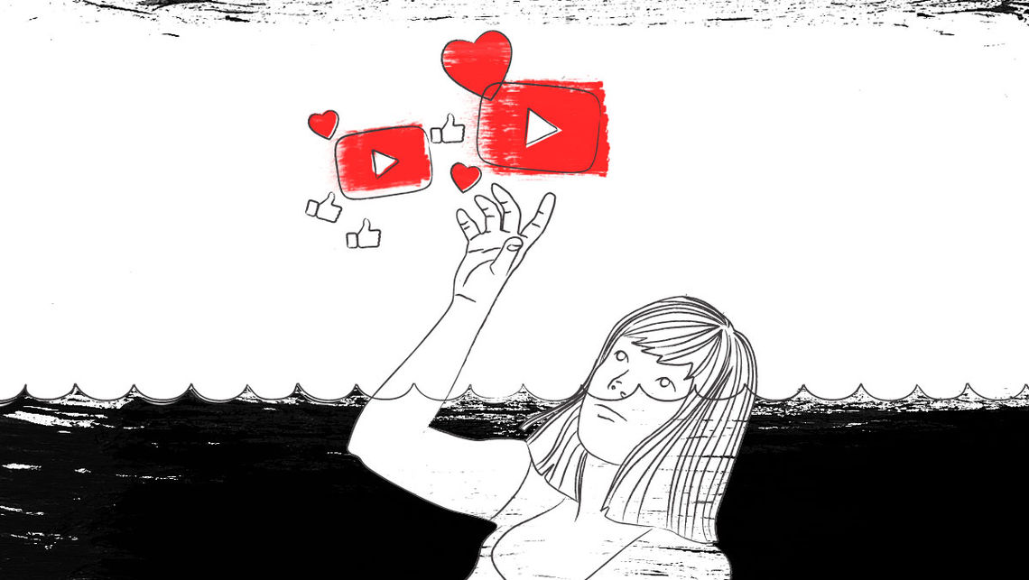 youtube depressionen text likes