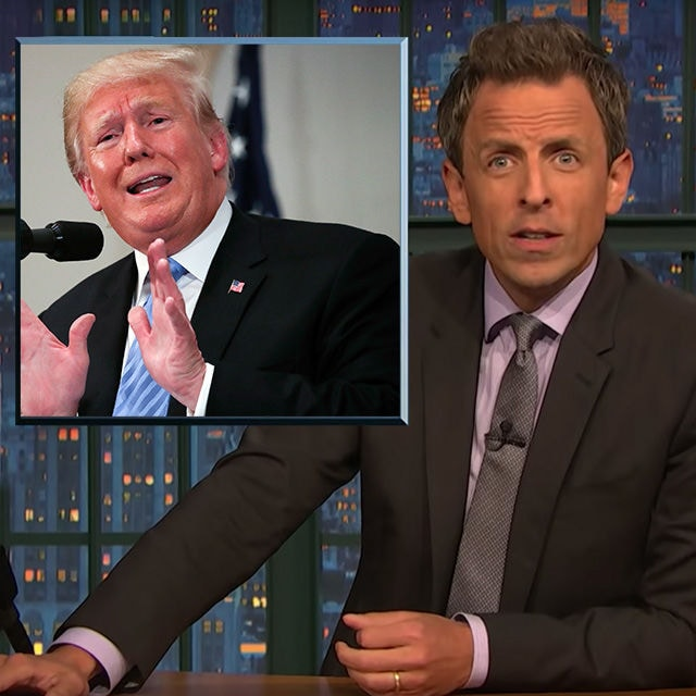 Seth Meyers eher so: Äh, was?