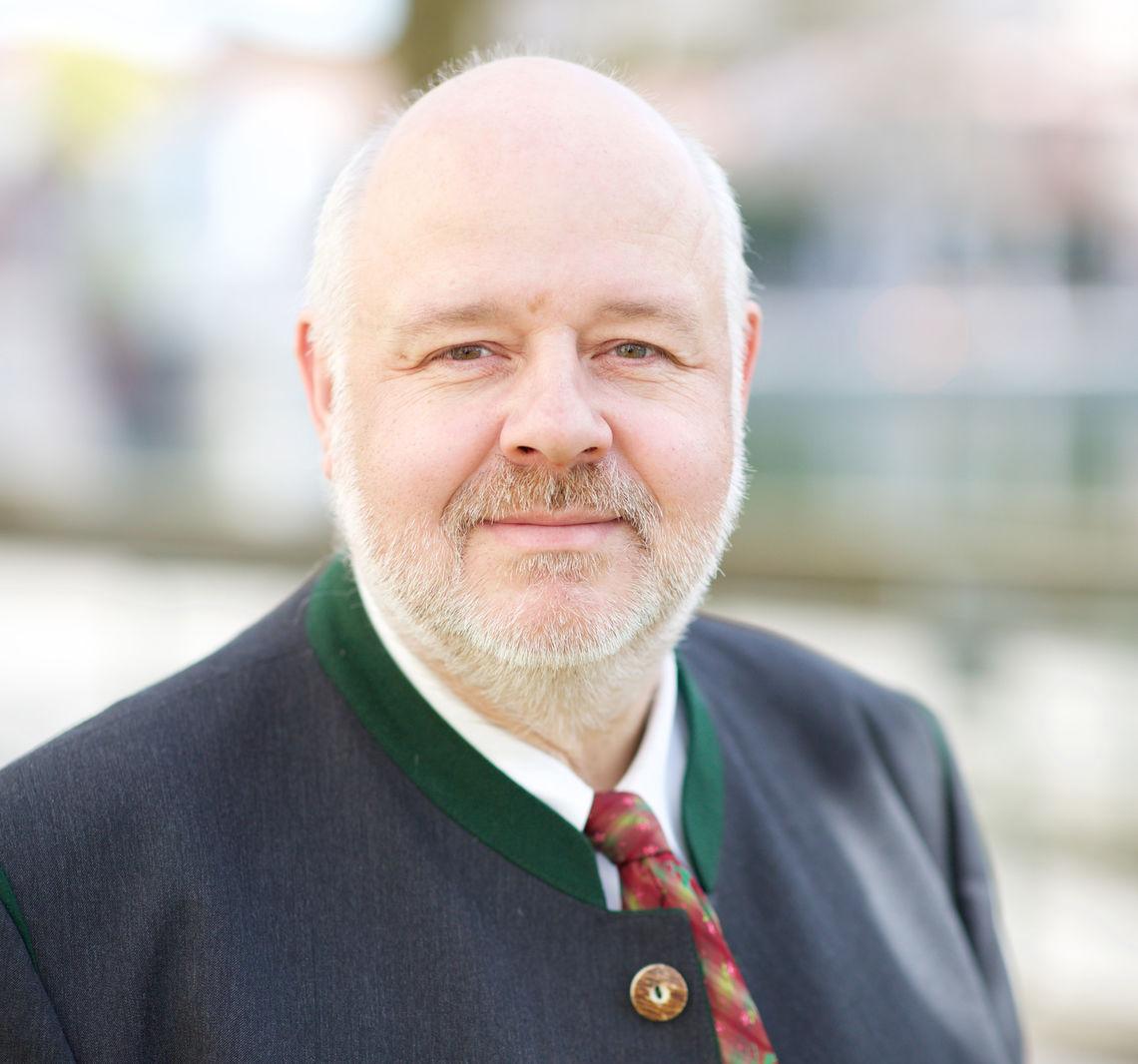Florian Weber, Spitzenkandidat der Bayernpartei für die Landtagswahl.