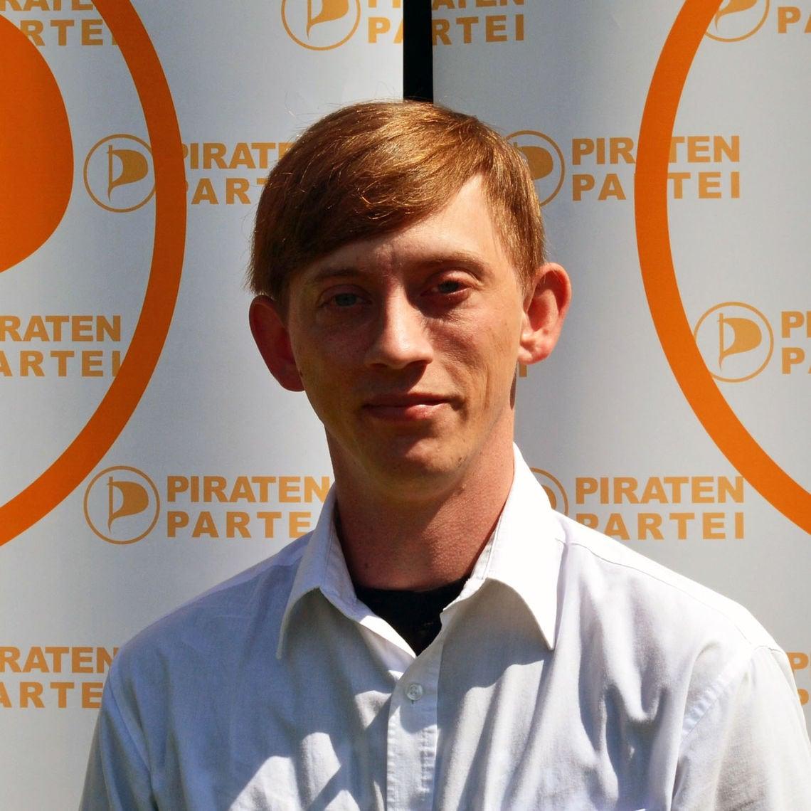Benjamin Wildenauer, Spitzenkandidat der Piratenpartei in Bayern.