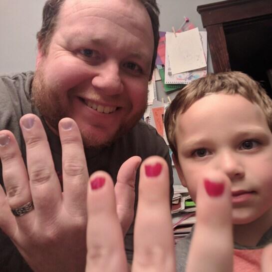 Jungs nagellack