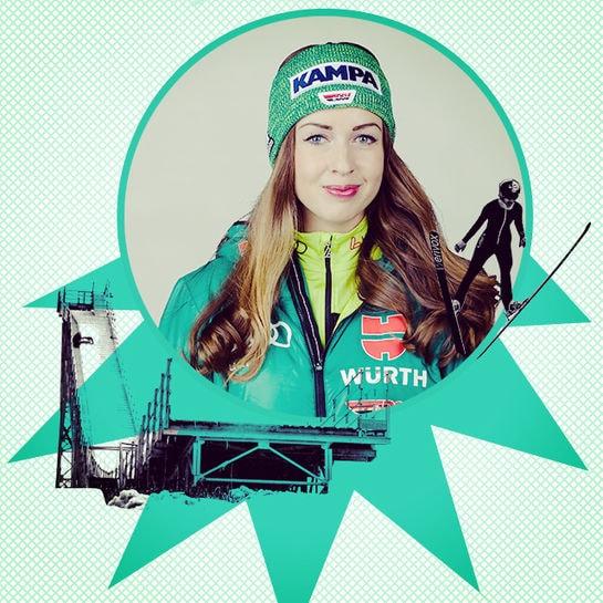 jobkolumne skispringerin