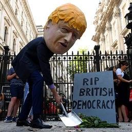 boris johnson protest