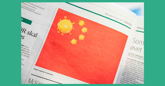 China fordert Entschuldigung wegen Coronavirus-Karikatur