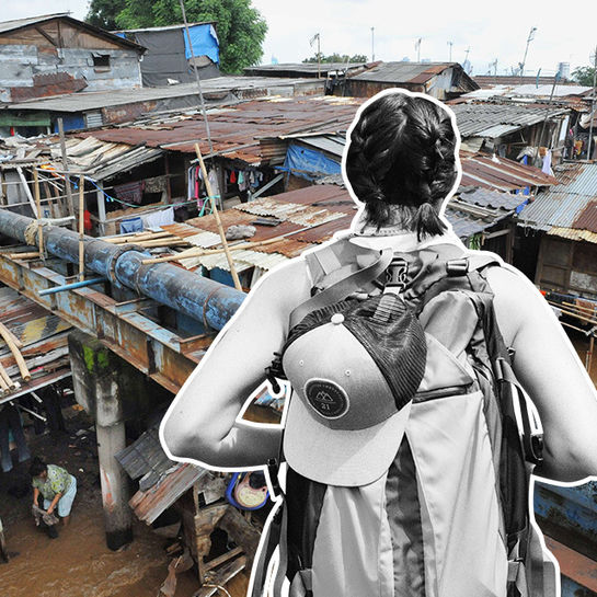 slumtourismus jakarta symbolbild cover