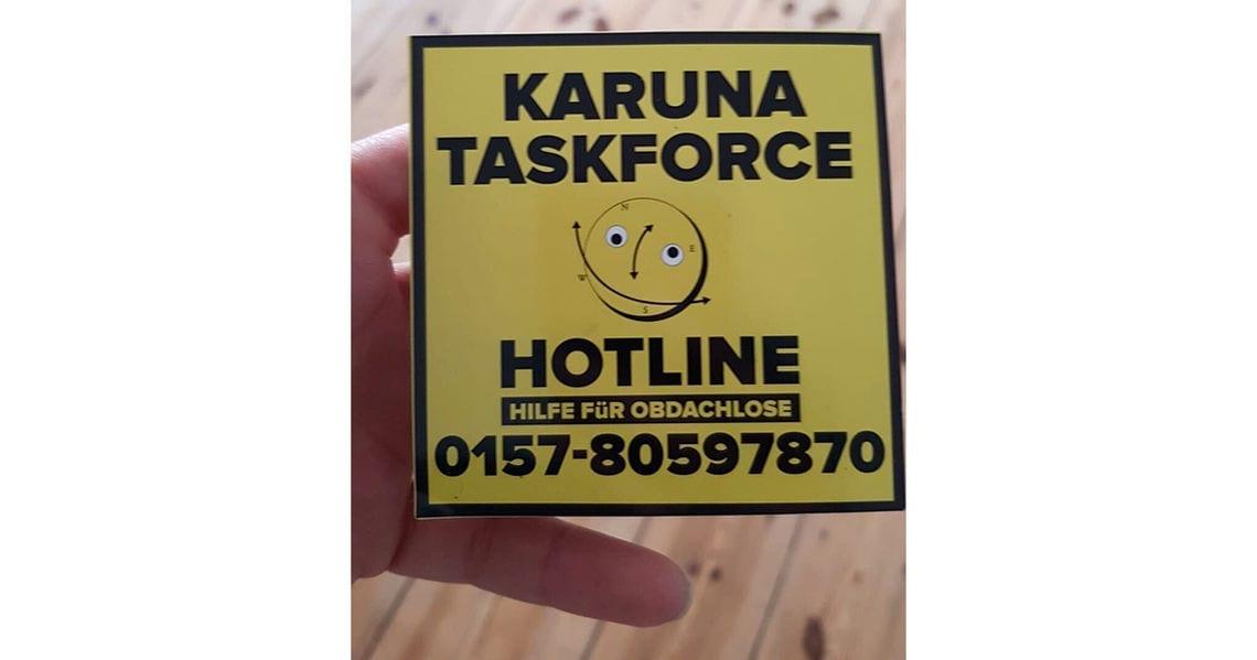 obdachlosenhelferin hotline