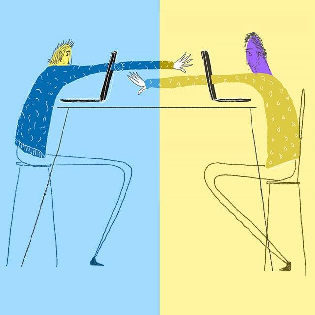 Sex während Freunde zusehen