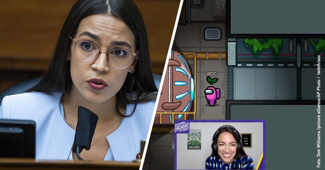 AOC zeigt auf Twitch, wie Politik auf Augenhöhe geht