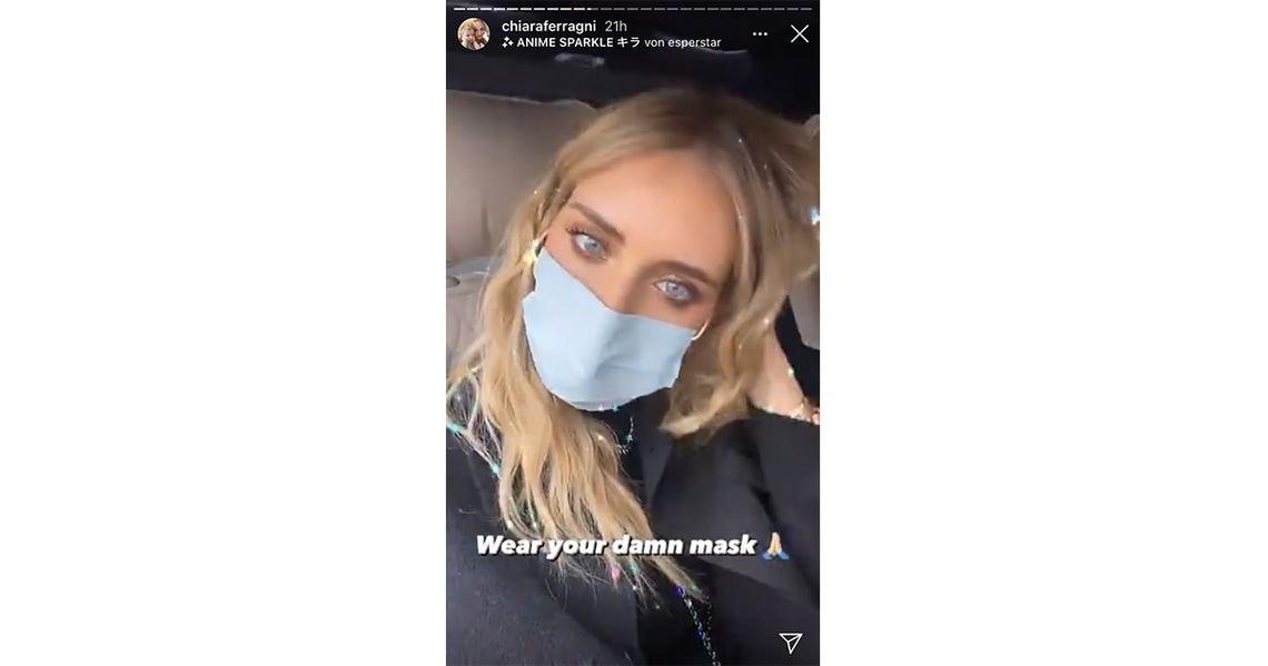buzz ferragni maske story3