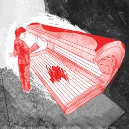 horrornebenjob solarium blutfleck cover