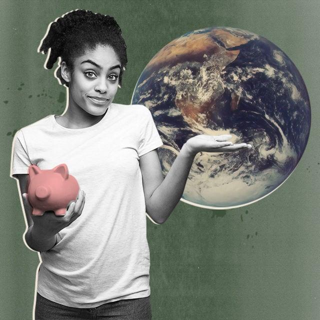 gutes leben nachhaltigkeit on a budget cover