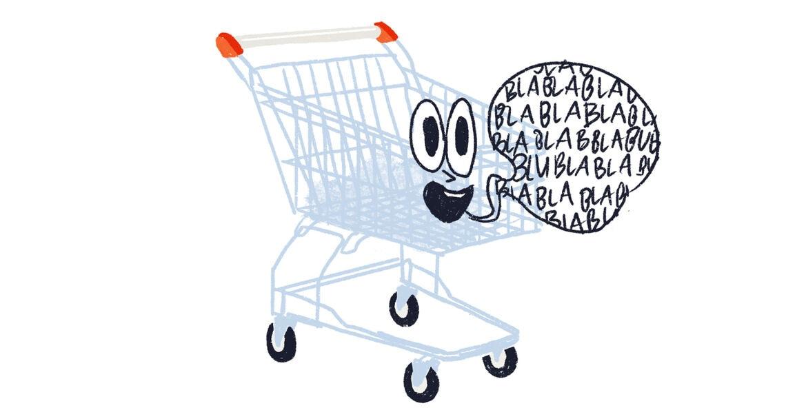 typologie supermarkt text labertasche